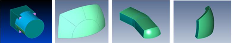 Femap結合カーブ、結合サーフェス処理