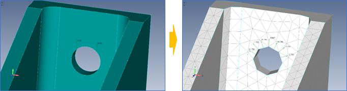 Femap2019カーブ上のベアリング荷重とトルク