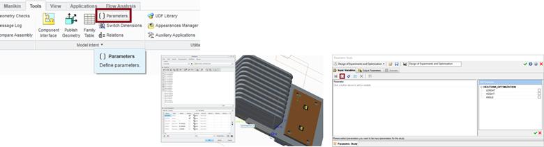FloEFD v18機能-デザイン検証と生産性向上 パラメトリックスタディ