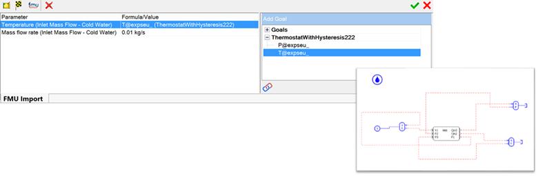 FloEFD v18機能-デザイン検証と生産性向上 >FMU Interface&#8221;/><br/> FloEFDは、FMU=機能的モックアップインターフェイスを使用して、複雑なタスクをマスター製品として共同シミュレーションできます。入力/出力パラメータマッピングのためのツールは現在ベータ版の機能として利用可能です。<br/>  <h4>パラメトリックスタディ(HEEDSオプションが必要です。)</h4> <img src=