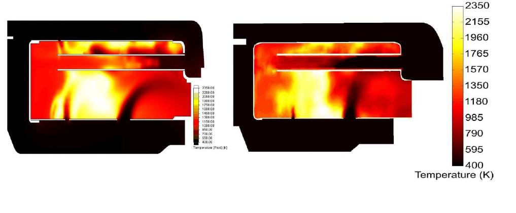 Simcenter FLOEFD 燃焼プロセスにおけるふく射 (Advancedモジュール)