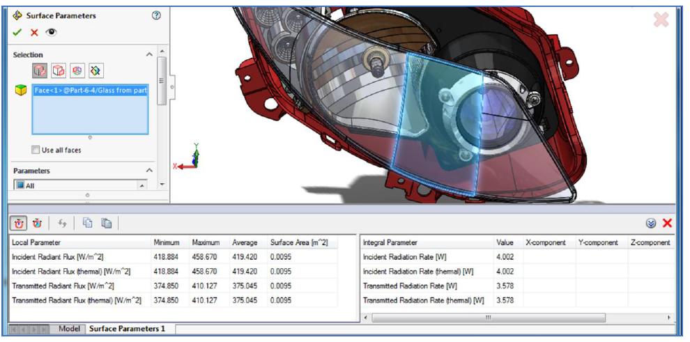 Simcenter FLOEFD 半透明ボディ上の放射束評価