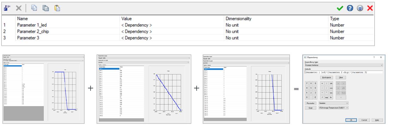 Simcenter FLOEFD v2019 機能-複雑な従属条件