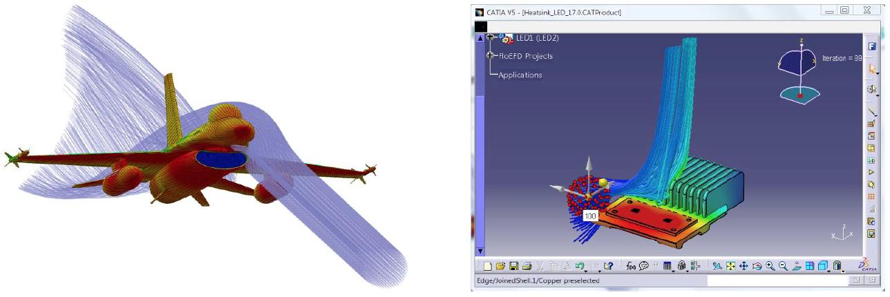 Simcenter FLOEFD v2019 機能-流跡線図のスピードアップ