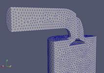 Femapでモデルを作成、OpenFOAM用に変換したもの